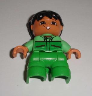 86b8aaa148c Lego Duplo D80860 (47205pb009) figurka dítě holčička POUŽITÉ