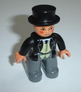 f5125e98195 Lego Duplo D81510 (47394pb096) figurka Mašinka Tomáš - tlustý přednosta  stanice POUŽITÉ